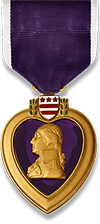 The Purple Heart award.