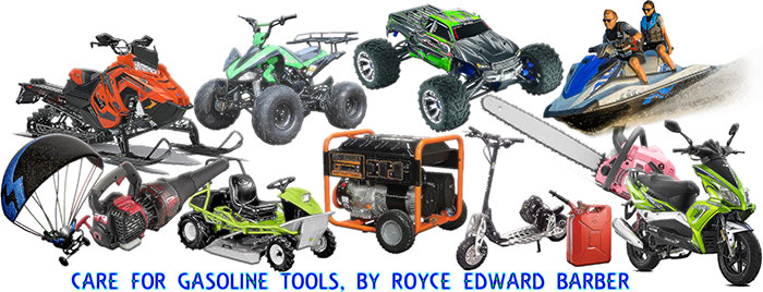 Article header image, all about gasoline power tools and maintenance.